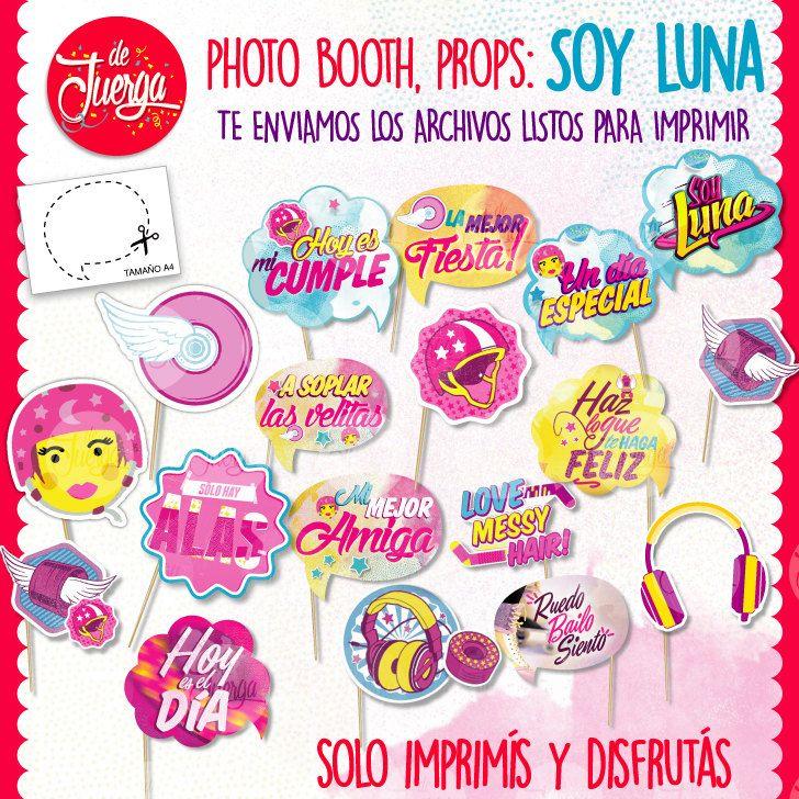Soy Luna Photo Booth Props Printable Imprimible de DeJuerga en Etsy