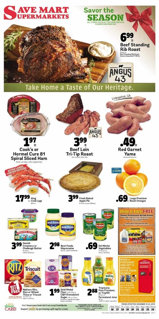 Save Mart Weekly ad December 16 - 24, 2015 - http://www.olcatalog.com/save-mart/save-mart-weekly-ad.html