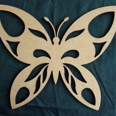 Papillon 2 - 30cm en bois médium découpé au laser