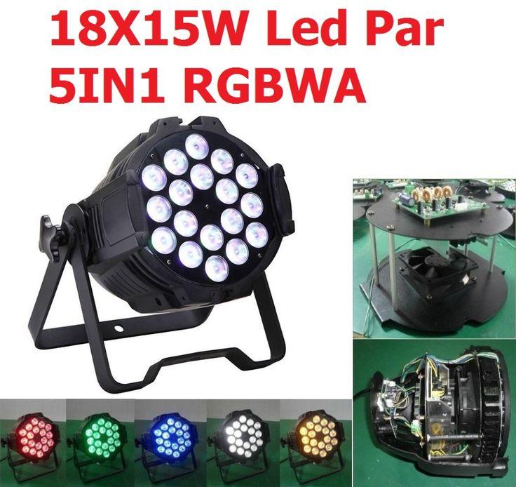 ==> [Free Shipping] Buy Best Sale 18x15W 5in1 RGBWA Die-cast Aluminiun Case Led Par Light Par64 Can Lights DJ Disco Stage DMX512 Strobe Lighting Equipments Online with LOWEST Price | 32573699446