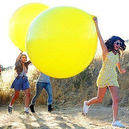 Gogogo 1 × 36 Zoll Latex Riesige Ballon für Hochzeit im Freien Party Geburtstag Fest Dekor (Rosa)
