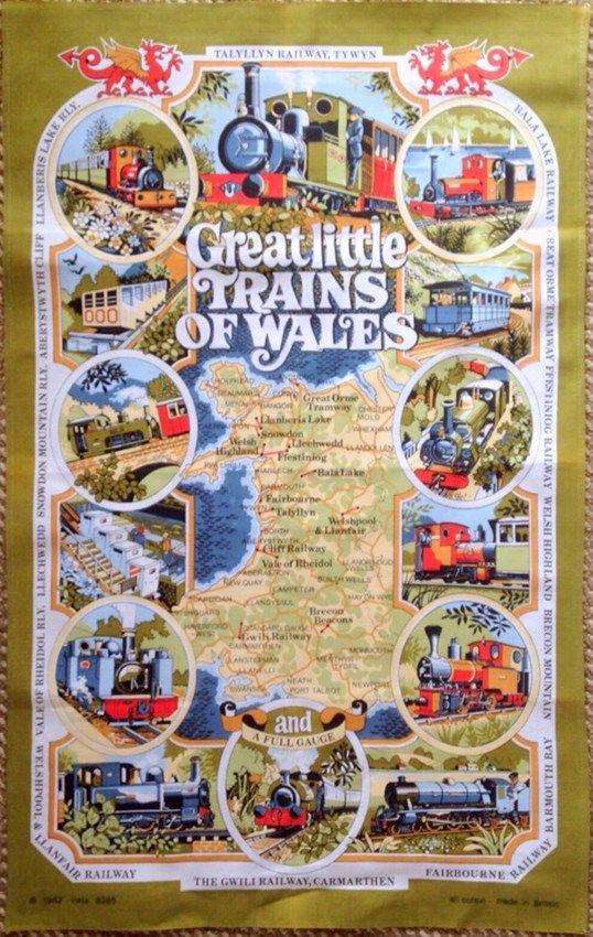 Great Little Trains of Wales Tea Towel