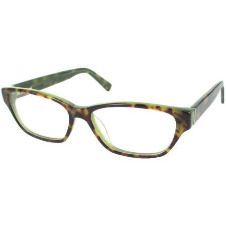 designer looks for less womens prescription glasses dna4018 tortoisegreen