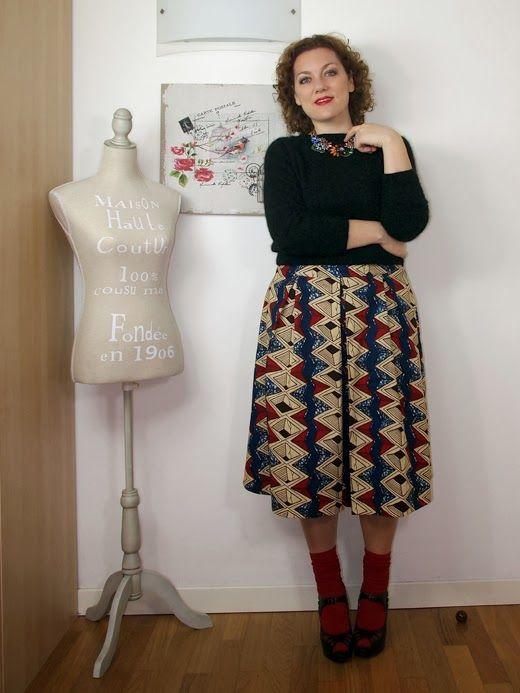 #verdementa - #fashion from my #curvy point of view: #Outfit | Gonna ispirata a Stella Jean #stellajean #skirt #metissage #wax