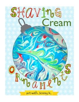 The coolest lesson you will ever do! Making marbleized paper with shaving cream---then use that paper to make ornaments. I've provided a video, the steps and templates! Have fun!!!