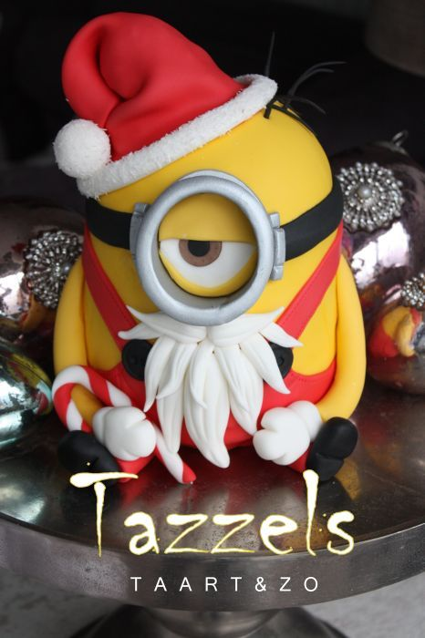 Minion Christmas Cake for 2013