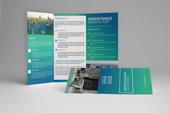 Corporate Trifold Brochure by assaiv on Creative Market