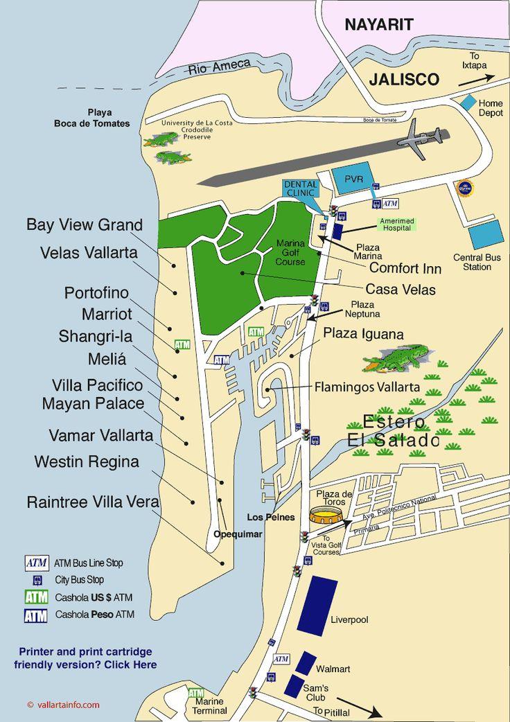 puerto vallarta marina map