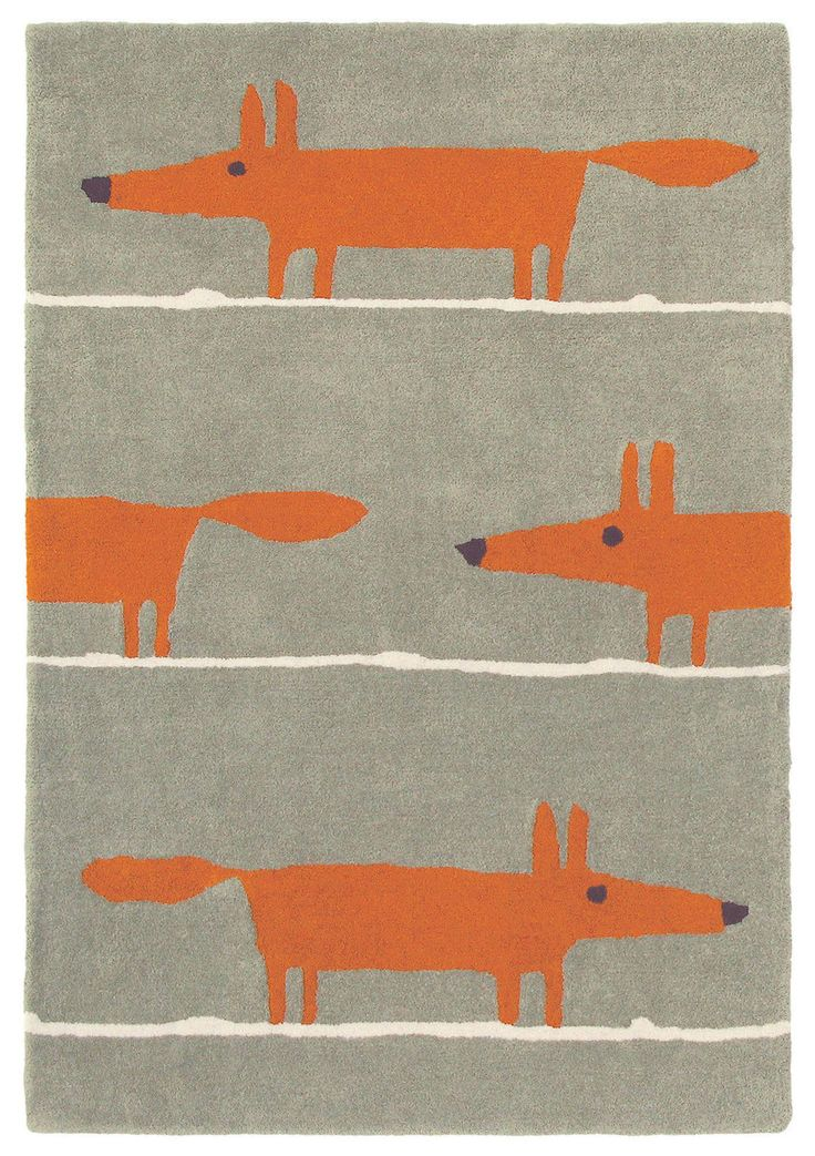 Scion Mr Fox Cinnamon Designer Wool Rug