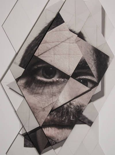 Who? Aldo Tolino What? Paper folding Why? I saved this pin because of the distortion it created by the folding of paper creating disfigurement in the features