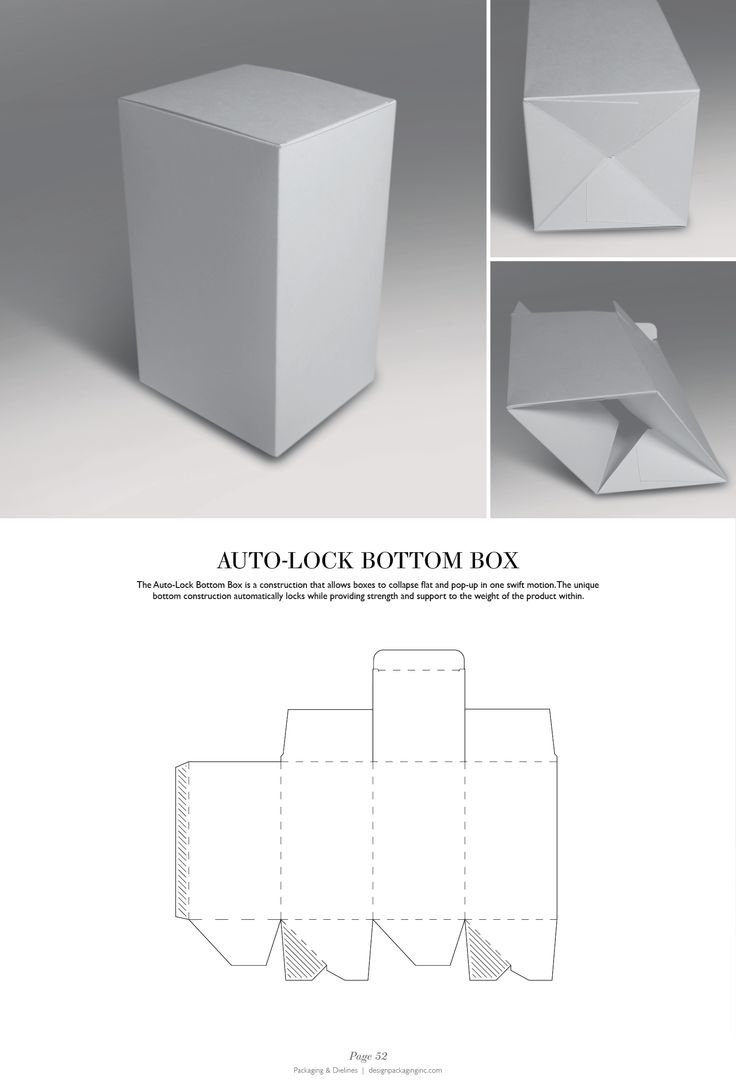 Auto-Lock Bottom Box - Packaging & Dielines: The Designer's Book of Packaging Dielines