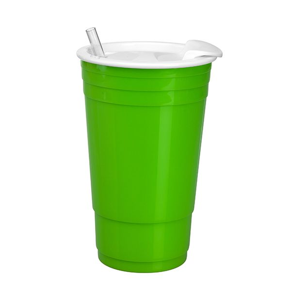 Big Gulp Insulated Cup-Lime - Occasionally Made - Classic Gifts with a Trendy Twist!