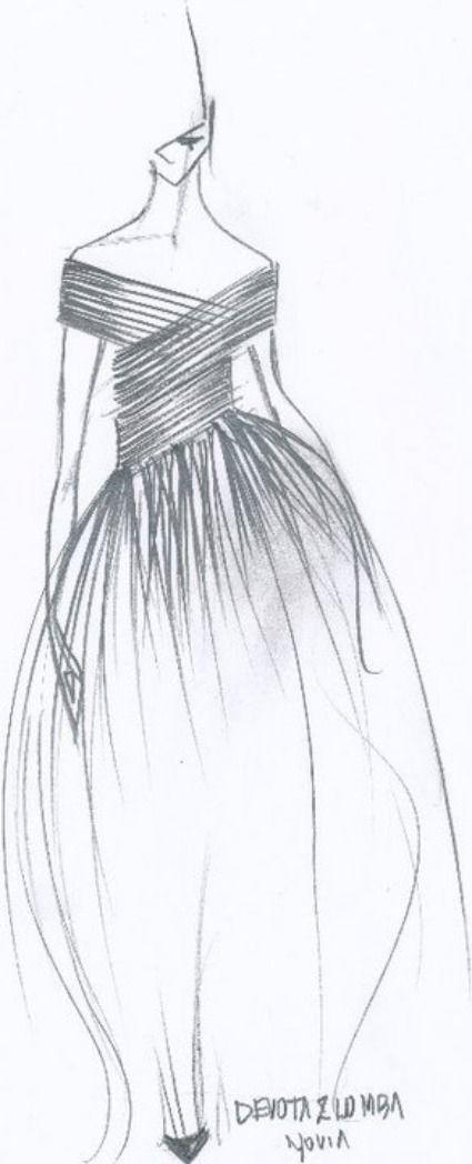 Boceto de la nueva colección de vestidos de novia Devota&Lomba 2012