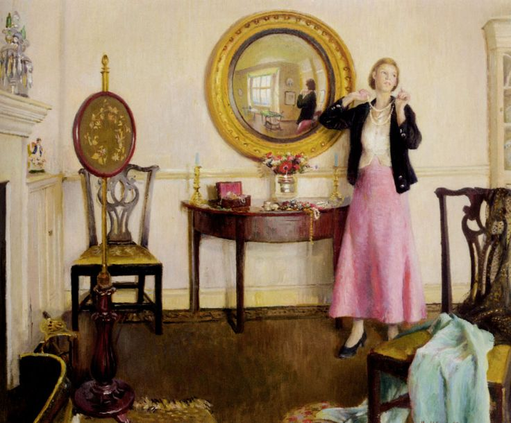 The Favourite Necklace by Harold Harvey (1874-1941)
