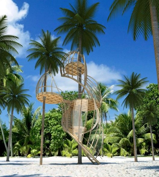 Treehouses in Paradise Competition Entries | ArchDaily