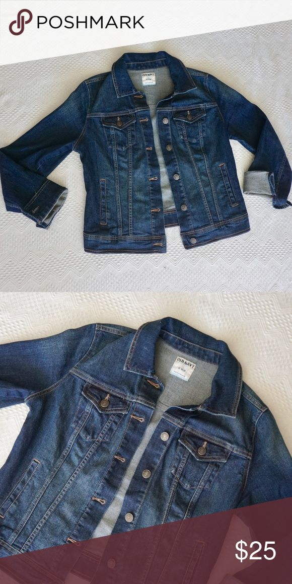 Old Navy jean denim jacket, dark wash Old Navy Jean denim jacket, size medium. Old Navy Jackets & Coats Jean Jackets