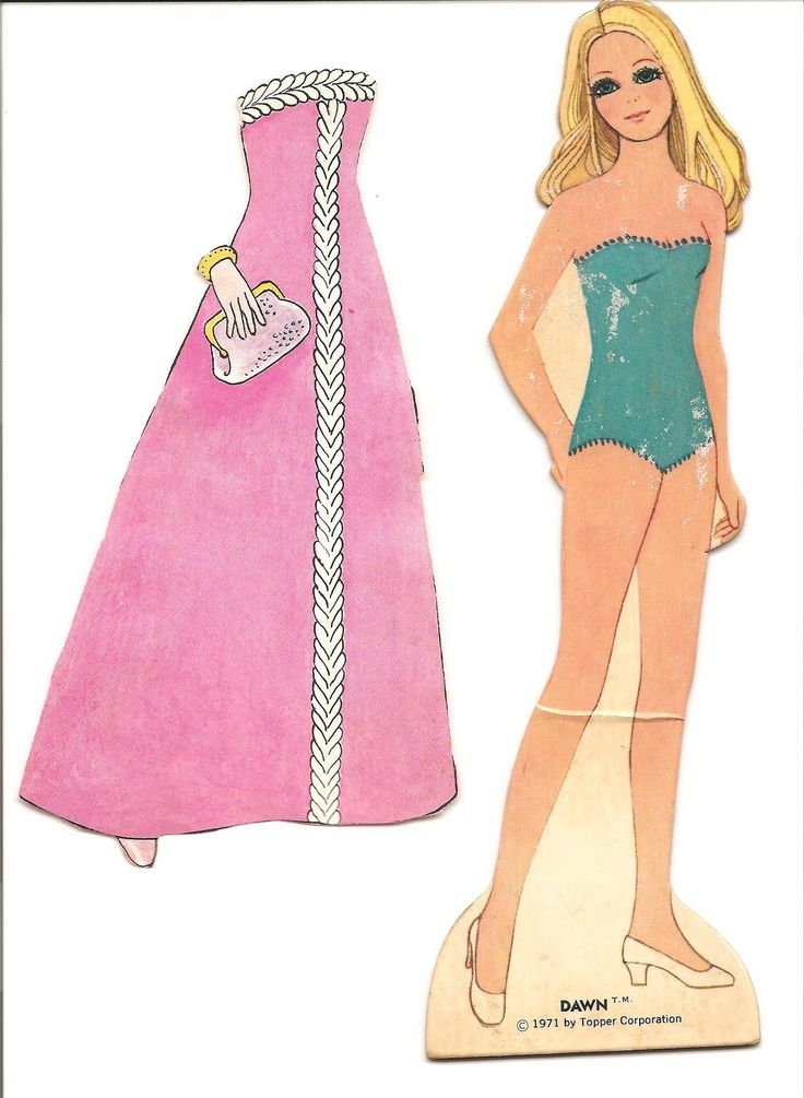 Mostly Paper Dolls: My DAWN Paper Doll from 1971