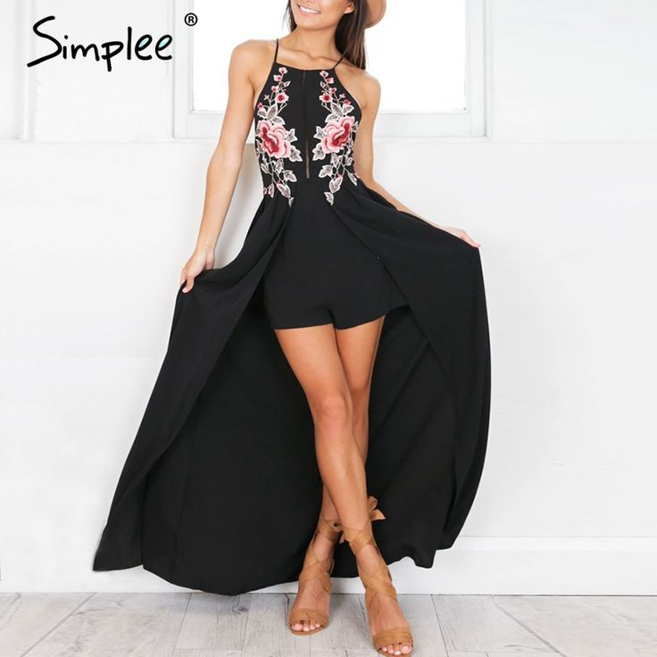 Aliexpress.com : Buy Simplee Elegant bodysuit women jumpsuit romper Backless embroidery combishort femme chritsmas playsuit summer overalls leotard from Reliable leotard brands suppliers on Simplee Apparel