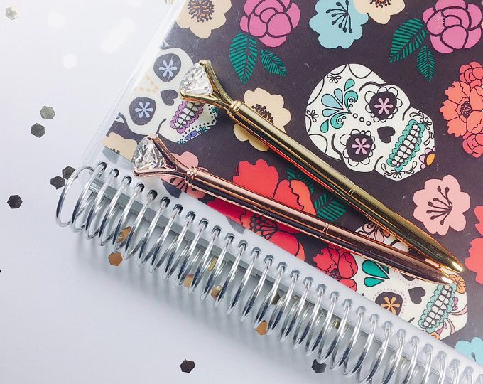 Diamond crystal gold or rose gold planner pen!