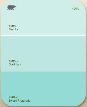 Tiffany blue paint : Cool Jazz by behr