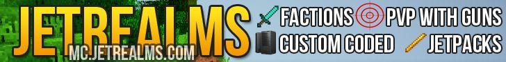 Server IP: mc.jetrealms.com