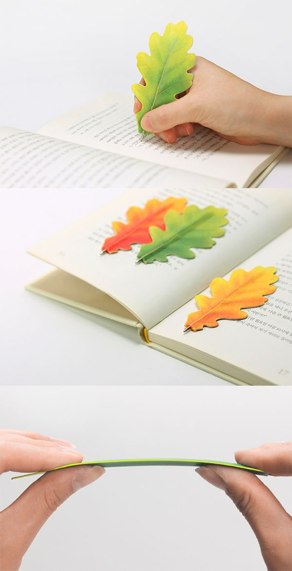 Is it fall already? Oh, it's just our Oak Leaf Bookmark Pen! How clever and useful: a bookmark and pen in one!