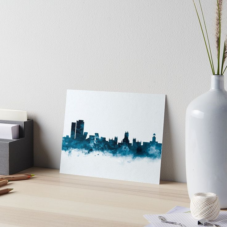 Madrid Skyline #madrid #spain #europe #skyline #landscape #cityscape #art #boards #watercolor #home #office #decor #desk #design #cheap #gift #ideas #print