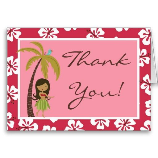 Top 20 best Luau Thank You Cards images on Pinterest | Luau, Index  FK78