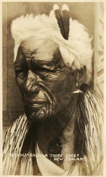 Traditional Maori warrior tattoo.
