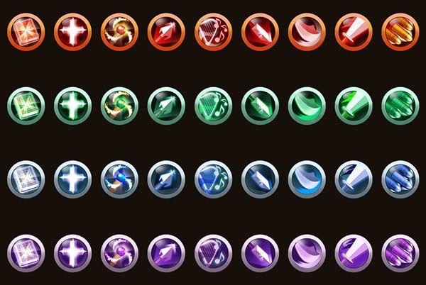 Game Skill Icons by sangwoo kim, via Behance