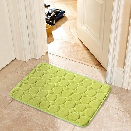 Christine Beata Personalized Yellow-Green Circle Simple Design Indoor/Outdoor Door Mats 15.7(L)X23.6(W) Inches