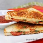 Grilled Cheese Pepperoni Pizza Sandwich
