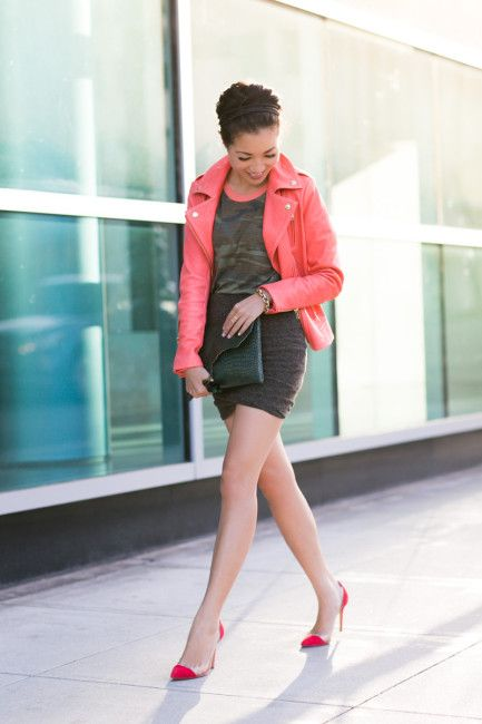 Coral leather