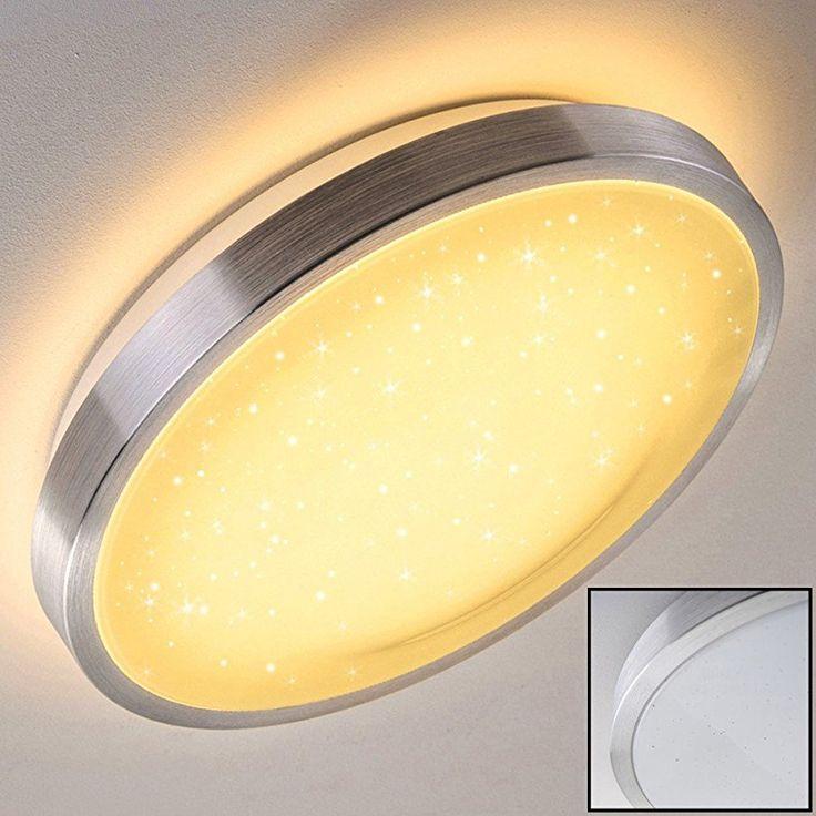 LED Deckenleuchte Sora 24 Watt aus Metall Stahl gebürstet, Eckige 1