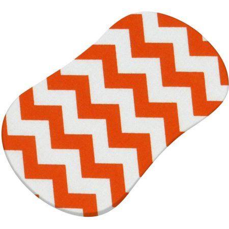 SheetWorld Fitted Bassinet Sheet (Fits Halo Bassinet Swivel Sleeper) - Orange Chevron Zigzag