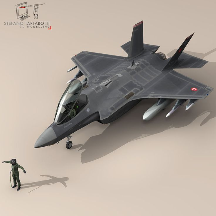 F 35A Turkey Air Force 3D Model- NOTE: the pilot character is not rigged -no bones- External pylons and weapons could be removed. Made in cinema4d R12. .fbx format is good for importing in 3dstudio max and Maya. - F35A: Polygons 30501 Vertices 31998 - Pilot character: Polygons 5012 Vertices 5105 This model is only artistic representation of the subject matter. I made it for a flight magazine illustration. If you like the model please rate it. The F-35A is the conventional takeoff and landing…