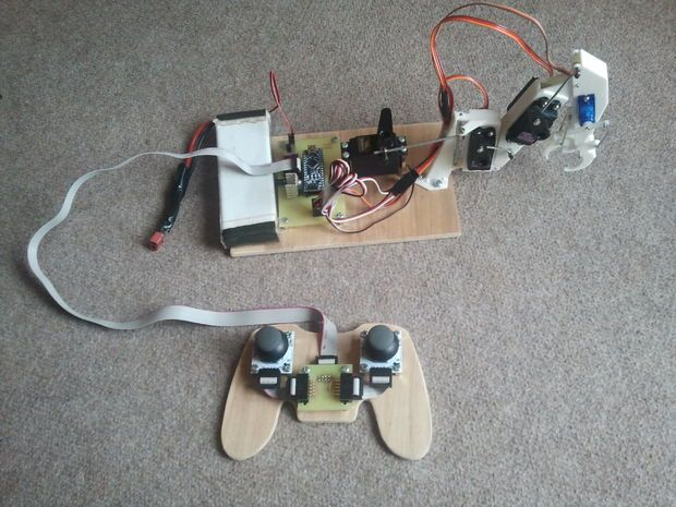 Picture of Arduino Robotic Arm (Scheduled via TrafficWonker.com)