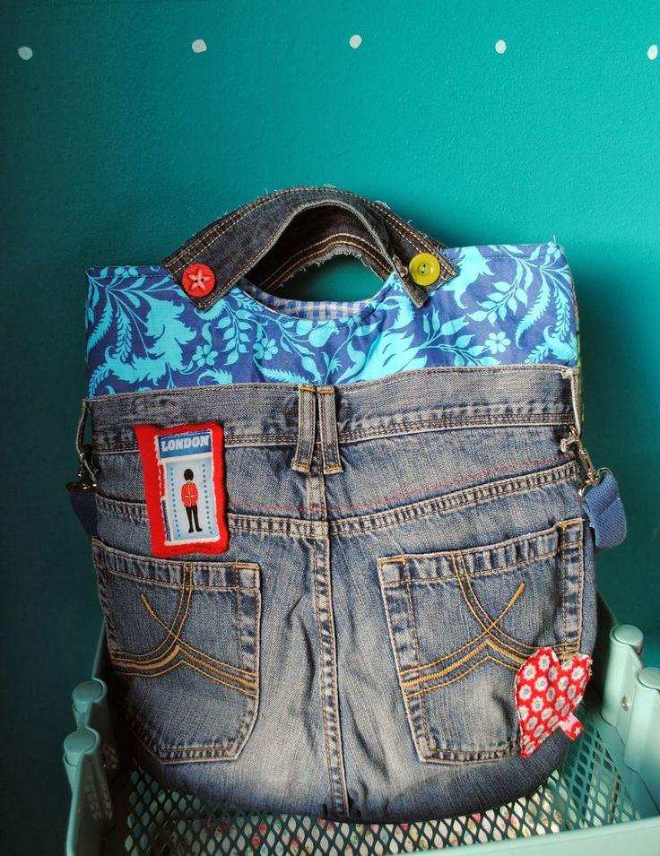 113 besten jeanstaschen bilder auf pinterest taschen n hen cowboys und denim tasche. Black Bedroom Furniture Sets. Home Design Ideas