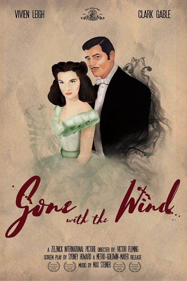 Cartel de Película: Gone with the Wind on Behance