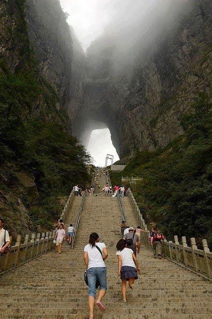 TodoCantoDoMundo: O portal da Montanha de Tianmen, China
