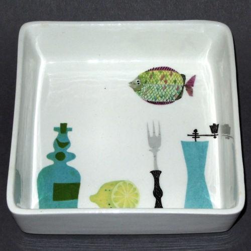 Stig Lindberg, ceramic dish decorated inside instead of outside