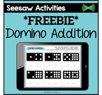Seesaw Activities *FREEBIE* Domino Addition Online
