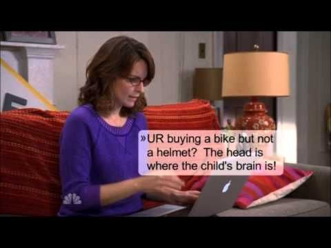 30 Rock - Liz Lemon buys a bike online -- Welcome to parenthood and Mommy Wars