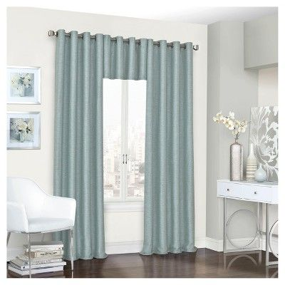 "Presto Thermalined Window Valance Blue (52""x18"") - Eclipse"
