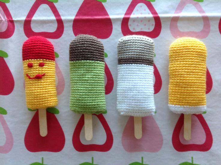 Crochet popsicles