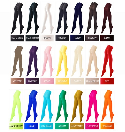 Colorful opaque pantyhose stockings tights 80 denier color colour - 1000 Ideas About Stocking Tights On Pinterest Sexy