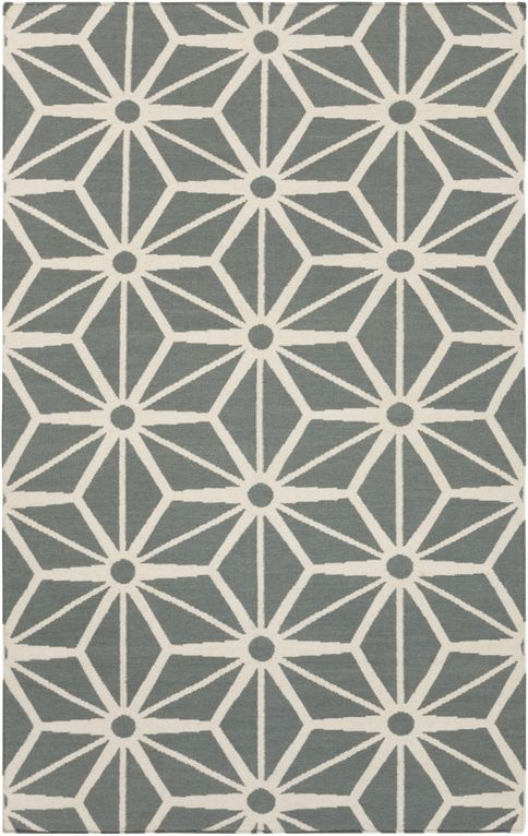 Gray geometric fallon rug from surya gallery gray for Geometric print area rugs