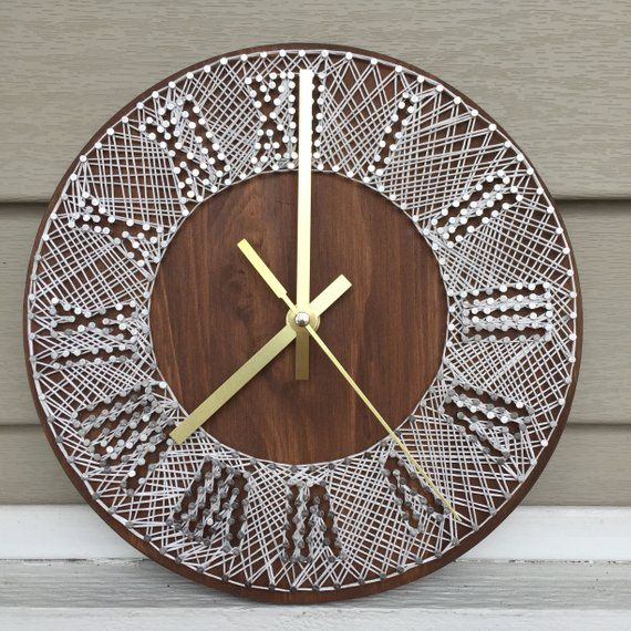 9″ String Art Wall Clock | Home Decor | Wedding Gift | Anniversary Gift | Birthday Gift | All Occasion
