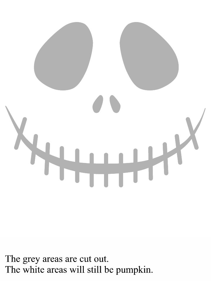 Jack Skellington Pumpkin Stencil-did this one year for halloween. The stencil didn't work out so i freehanded it and it looked even better
