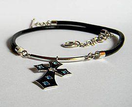 Šperky - Unisex Zafírový kríž - 5641399_